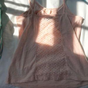 Girls XL size 12 eyelet baby pink tank top